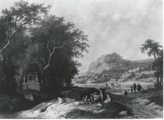 Bergachtig Italianiserend landschap. Christoffel Frederik Franck pinxit. (Amsterdams Historisch Museum)