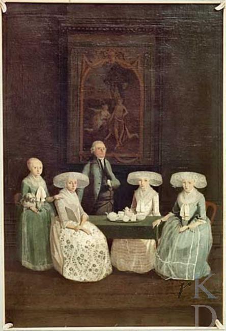 De familie Sloterdijck uit Bolsward met in hert midden pater familias Symon van Sloterdijck (1738-1817)