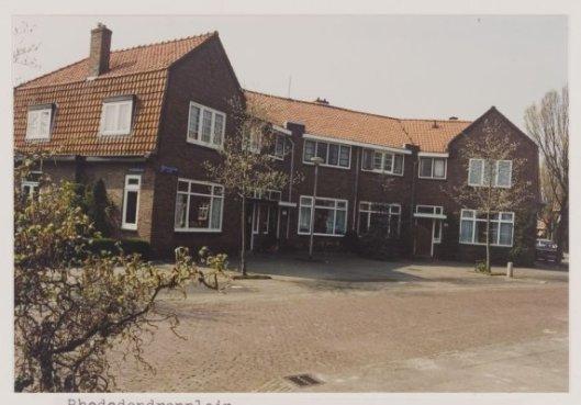Huizen aan het Rhododendronplein in Heemstede, waar de familie Maij enkele jaren woonde