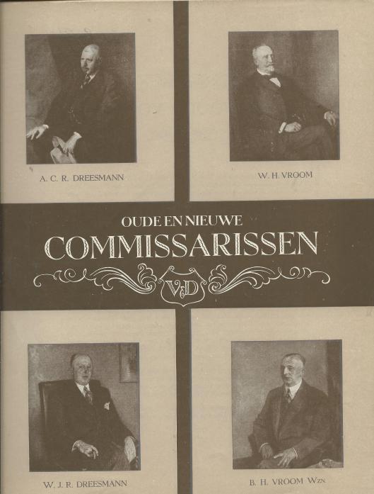 Portretten van de eerste commissarissen van V&D Haarlem, vanaf 1896 en van na 1919