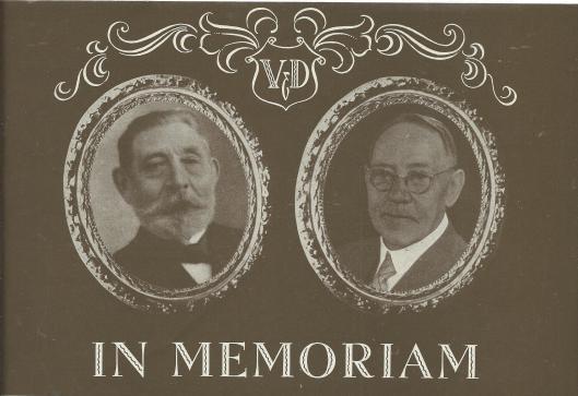 De eerste directeuren vn V&D in Haarlem: links G.B.E.Rosenmöller en rechts W.C.Vehmeijer
