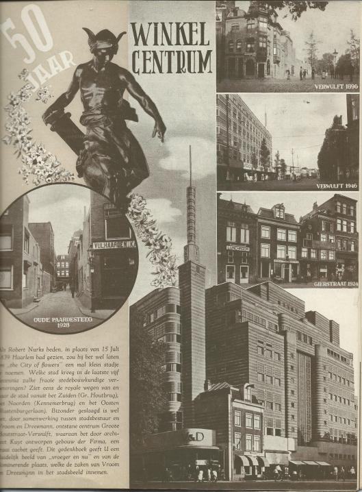 Collage Vroom en Dreesmann Haarlem na 50 jaar, 1946