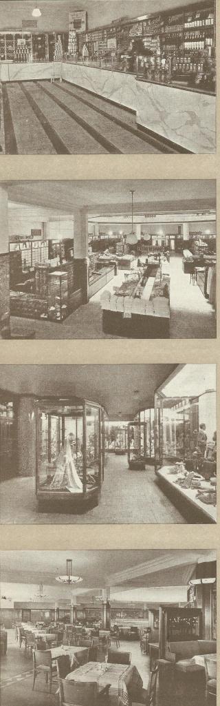 Afbeeldingen van V&D Haarlem in de Grote Houtstraat uit 1946