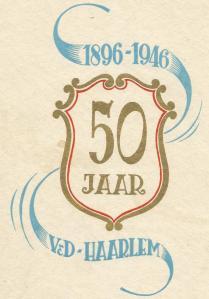 Vooromslag herdenkingsuitgave Vroom en Dreesmann Haarlem, 1946