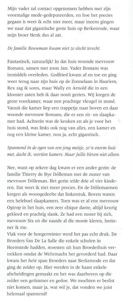 Uit: gesprek van Ted van Turnhout met Mies Bouwman in Berkenrode, 2002, (1)