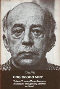 Vooromslag van Géza Frid: Oog in oog met o.a. Bomans