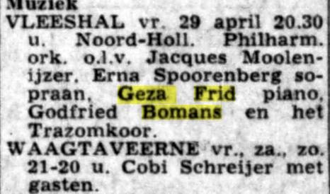 Uit: De Telegraaf van 23 april 1966