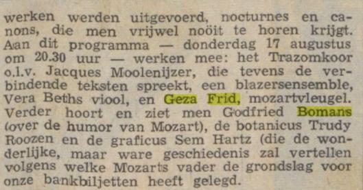 Uit: Limburgs Dagblad van 17 augustus 1967