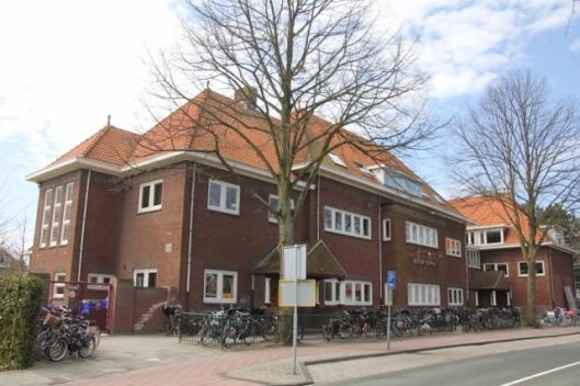 Gebouw van Jacobaschool aan de Lanckhorstlaan in Heemstede