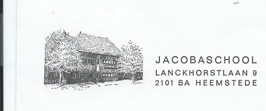Briefhoofd van de Jacobaschool Heemstede