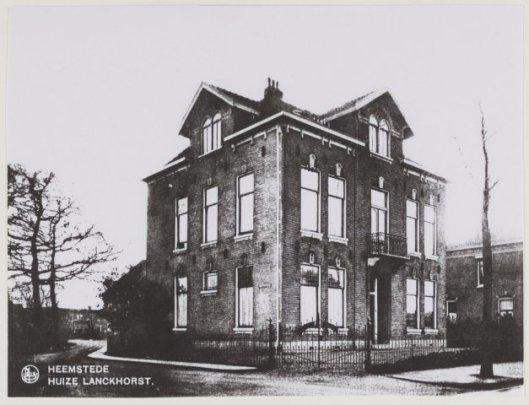 Huize Lanckhorst in Heemstedewaar nu de Jacobaschool staat