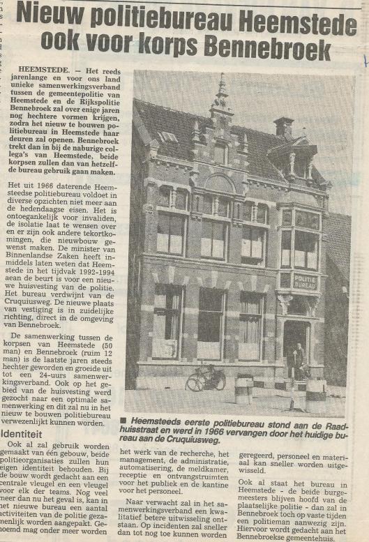 Artikel over komende verhuizing van het oude naar een nieuwe kantoor