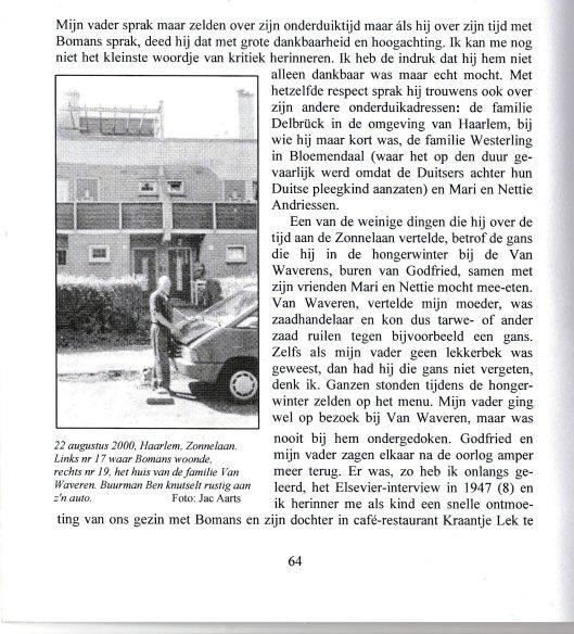 Herinneringen van Sabine Lichtenstein, dochter van Hans Lichtenstein. Uit: tijdschriftGodfried 31/2