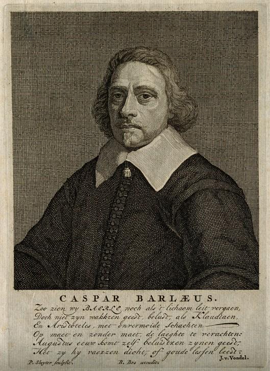 V0000291 Caspar van Baerle [Barlæus]. Line engraving by P. Sluyter.