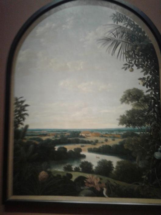 Frans Post: landschap Brazilië - met midden onderaan de vogel Rijkssuseum)