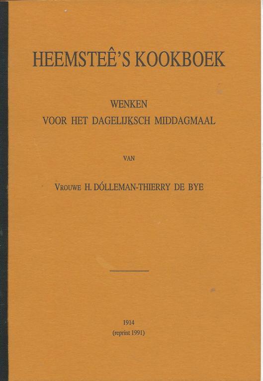 Vooromslag van herdruk Heemsteê's Kookboek