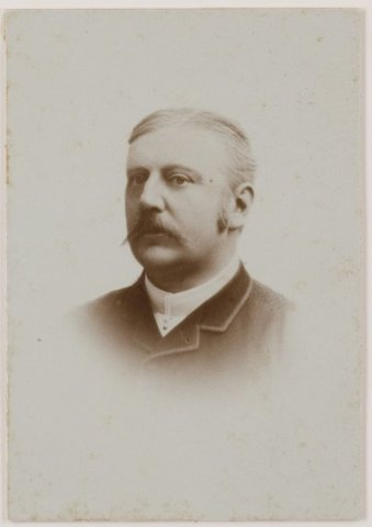 Portret van burgemeester Jan Phulip Dolleman (1842-1891)