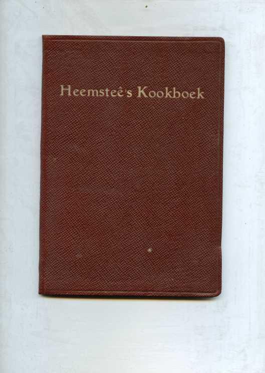 In leer geboden uitgave van Heemsteê's kookboek door Vrouuw H.Dólleman-Thierry de Bye