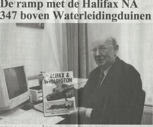 Vic Klep's uitgave over de ramp met de HALIFAX NA347 boven de Waterleidingduinen bij Zandvoort, 1999