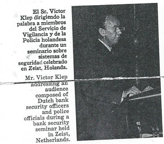 Vic Klep als spreker tijdens een internationaal seminar van bankbeveiligers in Zeist