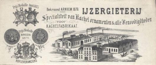 Briefhoofd van ijzergieterij/kachelfabriek de Etna in Breda