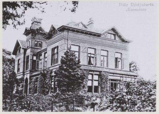 de grote villa Dokjakarta, Kerklaan 111 Heemstede waar J.Müllemeister van 1896 tot zijn overlijden in 1926 woonde