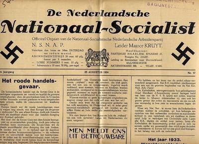 Voorbeeld vn de N.S.N.A.P.krant 'De Nederlandsche Nationaal-Socialist