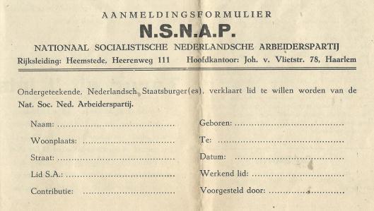 Aanmeldingsformulier N.S.N.A.P.