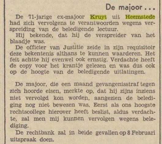 Kruyt voor de rechter (Utrechts Volksblad, 26-1-1940)