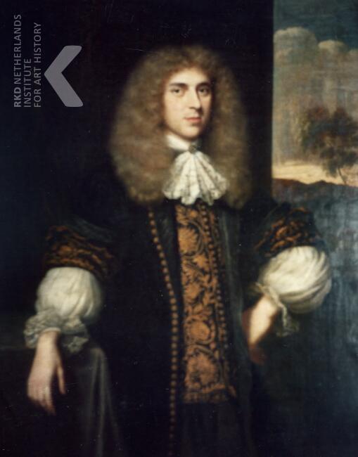 Geschilderd portret van Frans van Marselis (1643-1705), echtgenote van Adriana Pauw (RKD)