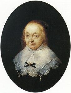 Portret van Anna Pauw-van Ruytenburg, in 166 geschilderd door Gerard Terborgh, toen zij al ziekelijk was (in 1648 overleden)