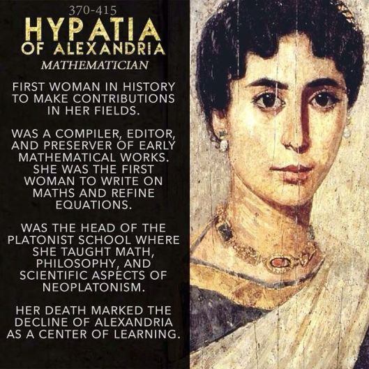 De Egyptische geleerde, filosoof en wiskundige Hypatia