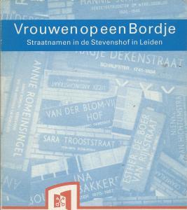 Vooromslag van publicatie 'Vrouwen op een bord'; straatnamen in de Stevenshof in Leiden. 1993