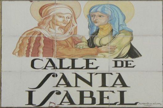 In Spanje hebben vooral vrouwelijke heiligen en nonnen een straatnaam gekregen
