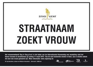 In de Vlaamse stad Gent wordt gezocht naar vrouwen die een straatnaam verdienen