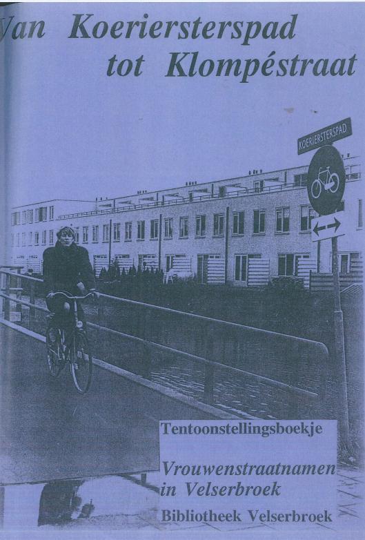 Vooromslag van in Velsen uitgegeven brochure in 1992 bij gelegenheid van een vrouwenwijk in Velserbroek