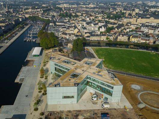 Panoramafoto nieuwe openbare Bibliotheek van Caen