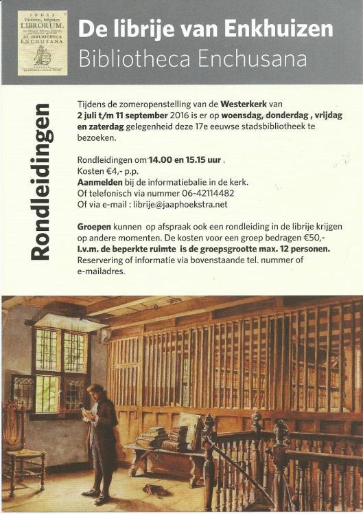 De librije van Enkhuizen in de Westerkerk