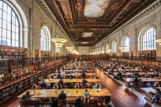 De vernieuwde leeszaal van de New York Public Library