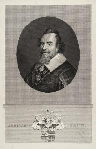 Adriaan Pauw op een litho door J.F.C.Reckleben (1819-1879)