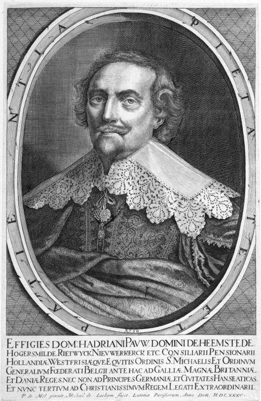 Adriaan Pauw. Gravure door Michgel van Lochom naar Pieter van Mol, 1635
