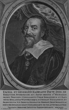 Adriaan Pauw, door Theodoor Matham, 1647