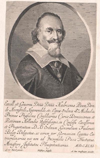 Adriaen Pauw door Holsteyn de Jonge, uitgegeven door A.van Waesbergen