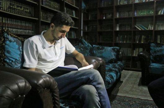 Interieurfoto van geheime bibliotheek in Syrië (BBC)