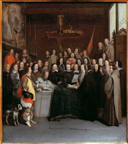 Schilderij van de Vrede van Munster in Westfälisches Museum
