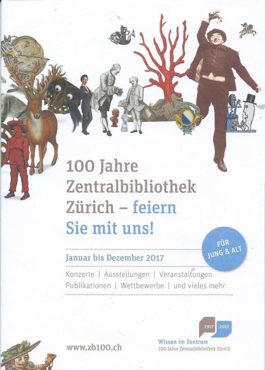 Programma 100 Jahre Zentralbibliothek Zürich