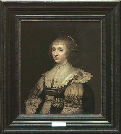 Pendant-portret Anna van Lockhorst door J.van Ravestein (Louvre Parijs)
