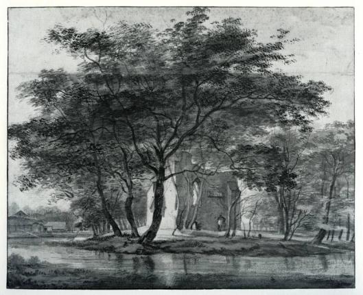 De ruïne van Oosterwijk, door Claes Seys uit Amsterdam aangekocht maar niet hersteld. Het was voor hem meer een eer als geslaagd koopman over een buiten te beschikken. Via zijn dochter Anna Seys (getrowd met Adriaan Pauw) kwam 'Oosterwijk'in bezit van de kleinzoon Nicolaas Pauw, ook aangeduid met Claes Seys Pauw, en kon hij zich tooien als 'Heer van Oosterwijk'.