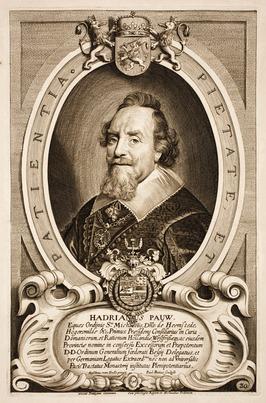 Adriaan Pauw (1585-1653). Gravure door Anselmus van Hulle, 1648