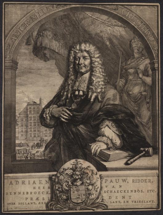 Portret van Adriaan Pauw jr. door Romeyn de Hooghe